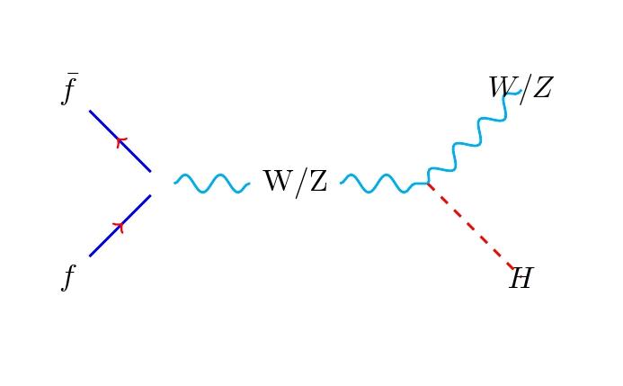 Higgs Boson production .. Feynman diagram