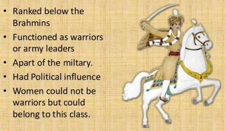 Kshatriya: The warrior class: photo credit; anandkjjw, slideshare dot net