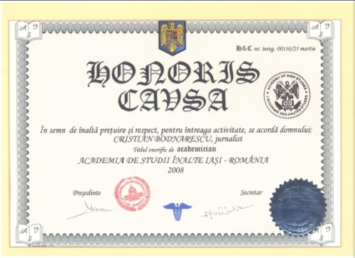 photo credit; cristibodnarescu.wordpress.com honoris causa; a bastardization of intelligence especially for political ends?
