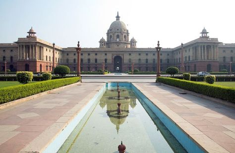 Indian President lives in a building, a mansion rather built in its prominent imperial design.