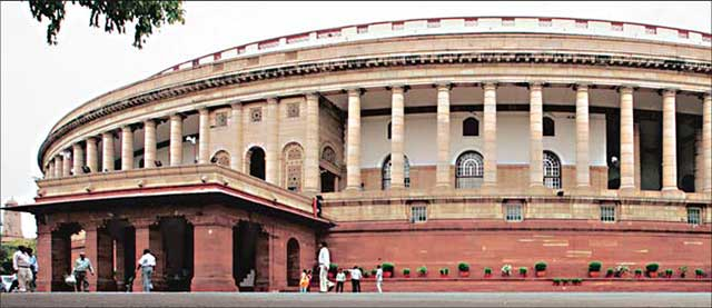 Indian Parliament a palatial building built in our imperial past.