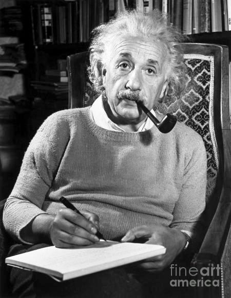 Albert Einstein: the inventor of theory of relativity among other important knowledge in physics.