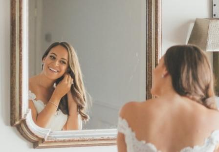 Mirror and Fermat's principle: We can see ourselves in the mirror and take our mirror reflected selfie as a consequence of Fermat's Principle, the topic of discussion of the blog. Photo-credit: weddingwire dot com