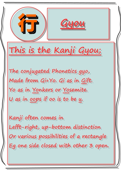 Learning Kanji with devil.: GYOU