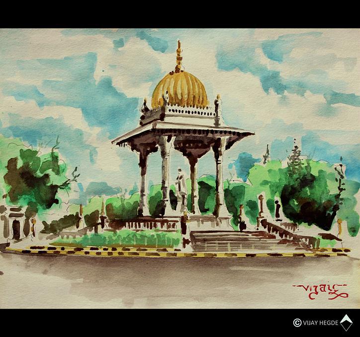 Art work by Vijay Hegde, Mysore city, LM2