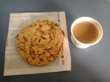 The Maddur vada on a train trip from Bangalore to Bhubaneswar !