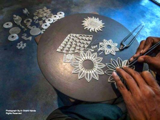 The Famous Tarakashi ( Filigree ) Work of Cuttack Photo credits: Ar Shakti Nanda