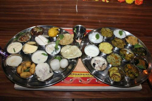Odia delicacies on Janmastami, a popular festivity.  Photo credits: Partha Pinaki Das