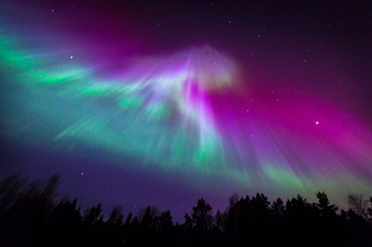 Aurora Borealis or Northern Lights at Ireland. Photo Credit; www.slate.com