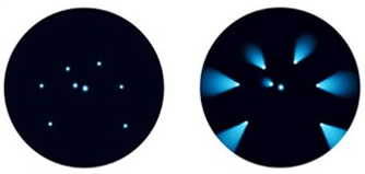 Coma: Point like stars appear like comets. Coma effect is more prominent at periphery. Photo Credit: