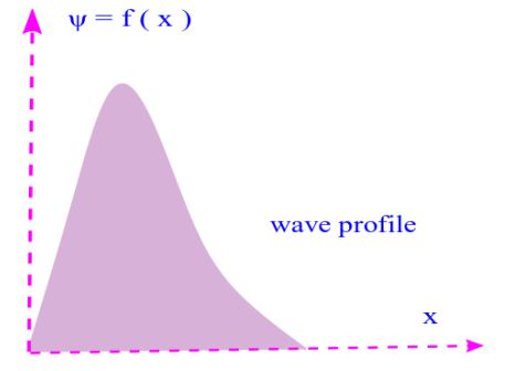 Wave profile and travelling waves: A wave profile is a snapshot of a wave but in space ( here x coordinate ). Photo Credit: mdashf.org