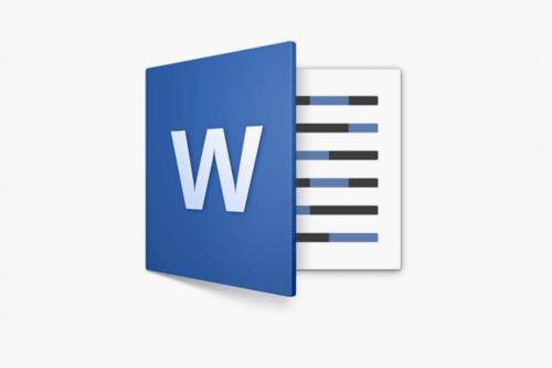 The Microsoft word logo.