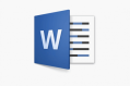 The Microsoft word logo.