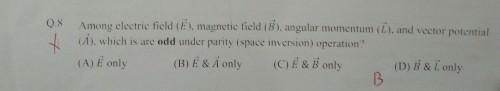 Gate Physics 2018: Parity of vectors.