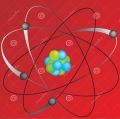 The nucleus consists of protons and neutrons which are made from quarks, 3 each. The electrons equal in number to the number of protons revolve around the nucleus. Together they make the atom.