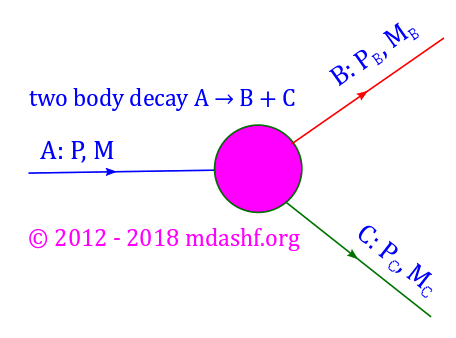 CSIR NET 2018 December Physical Sciences: answer to question 21, the two body decay. The energy and momenta of the daughter particles are uniquely determined in parent rest frame. Photo Credit: mdashf.org